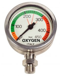 Manometer Zuurstof Geschikt 52mm 450 bar