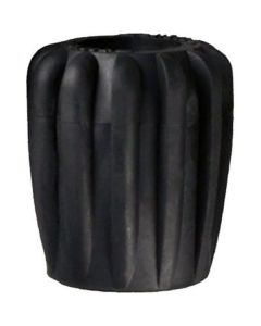 Kraandop Rubber Zwart